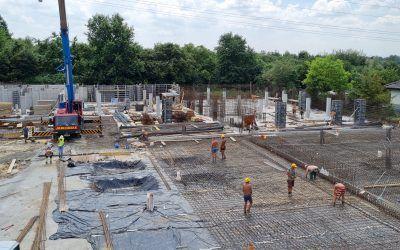 Postęp prac nabudowie 28.07.2021