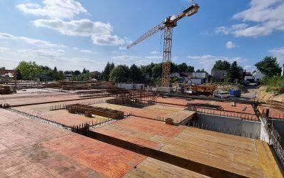 Postęp prac nabudowie 26.08.2021